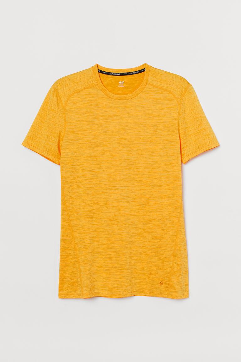 H & M - 健美合身剪裁運動上衣 - 黃色