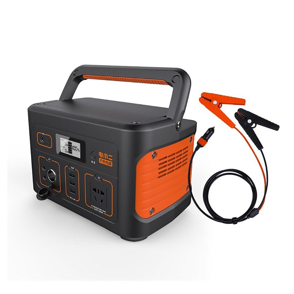 電小二|戶外電源600S高容量174000mAh戶外露營夜市擺攤戶外供電器+汽車補電線