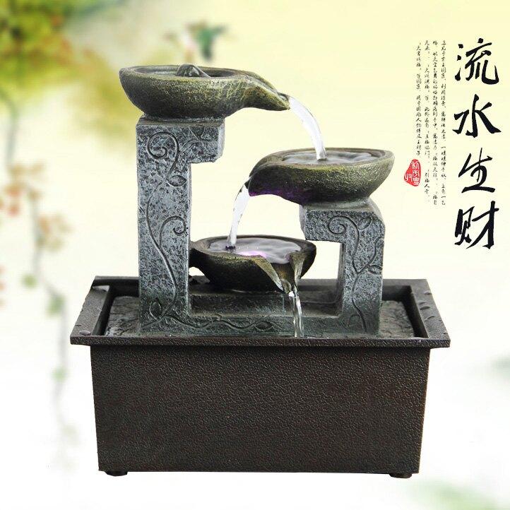 簡約客廳流水噴泉擺設創意水景工藝品辦公桌面擺件招財開業禮品JRGY3 愛尚優品