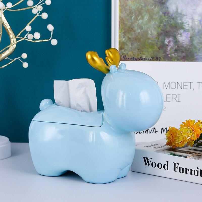 茶幾紙巾盒餐桌抽紙盒北歐輕奢簡約現代小鹿家居客廳遙控器收納盒  SHBS3 愛尚優品