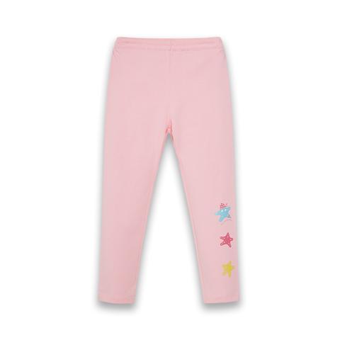 【EASY輕鬆系列】麗嬰房 女童海盜星星針織內搭褲-粉色 (76cm~130cm)
