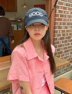 韓國空運 - Mood Embroidery Wind Ball Cap 帽子