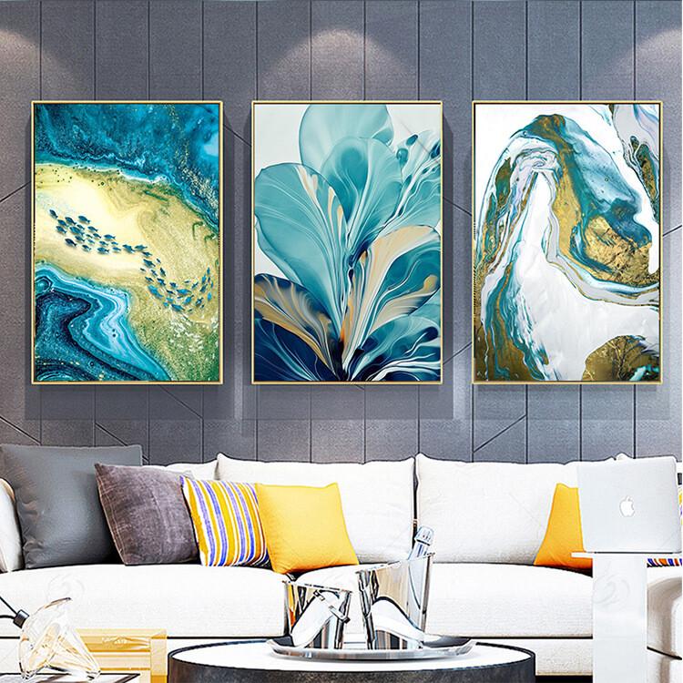 現貨 快速出貨 松果嚴選 成本價直銷 掛畫 壁畫 現代客廳裝飾畫北歐輕奢抽象掛畫臥室沙發背景墻三