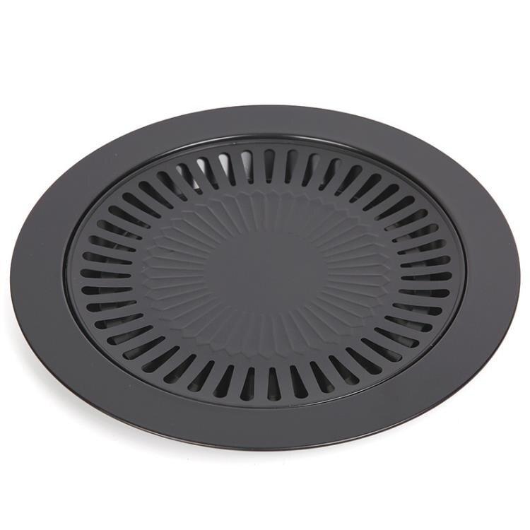 韓式烤盤不粘烤肉盤 卡式爐燒烤盤 家用韓式烤雞盤 不粘燒烤爐