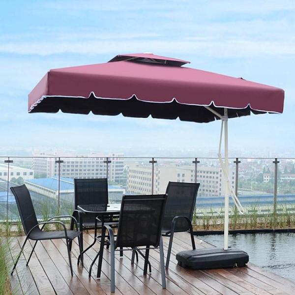 戶外遮陽傘庭院傘室外沙灘傘香蕉傘崗亭雨傘擺攤傘保安大傘太陽傘
