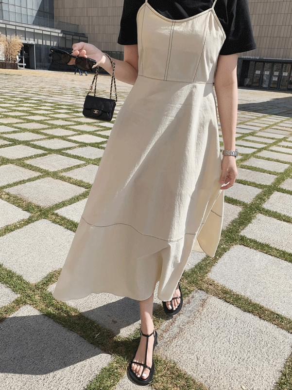 韓國空運 - Louis Stitch Dress 長洋裝