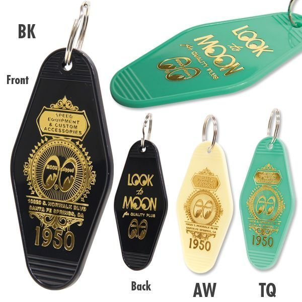MOONEYES - MKR024 CALIFORNIA KEY RING 美國旅館房卡造型 鑰匙圈 (四色)