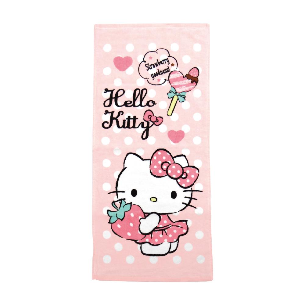 凱蒂貓最愛草莓毛巾 【康是美】