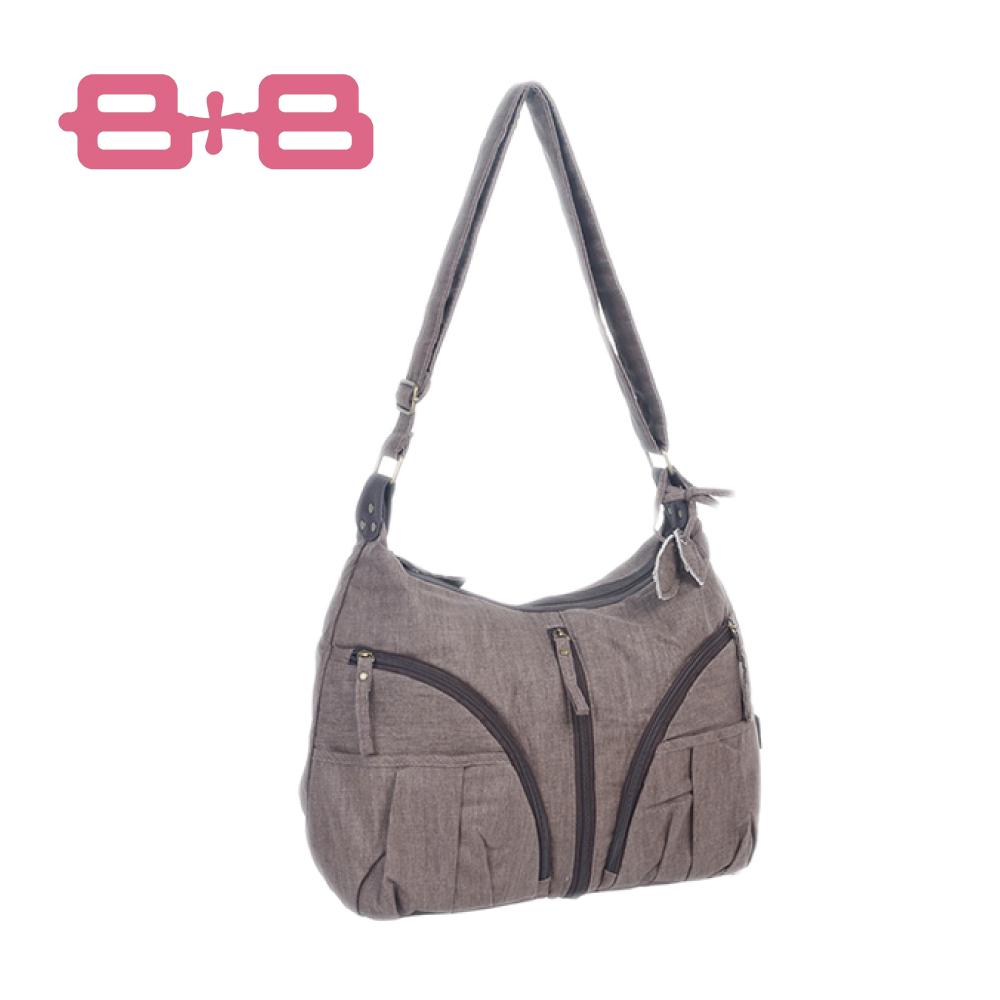 【結帳再68折】HAPPY B+B 休閒純靜媽媽包/尿布墊保溫袋-咖 E-B-95174-B