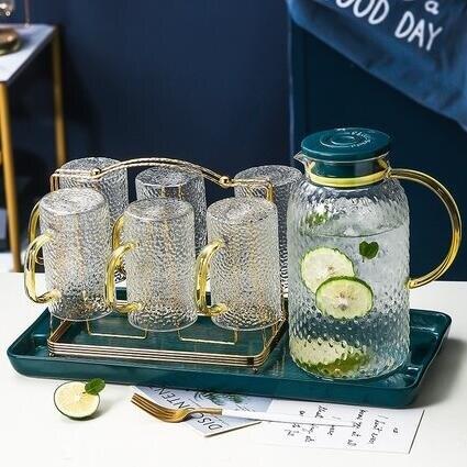 客廳桌面茶幾擺件北歐創意水杯套裝家居飾品喬遷新居禮品 摩可美家