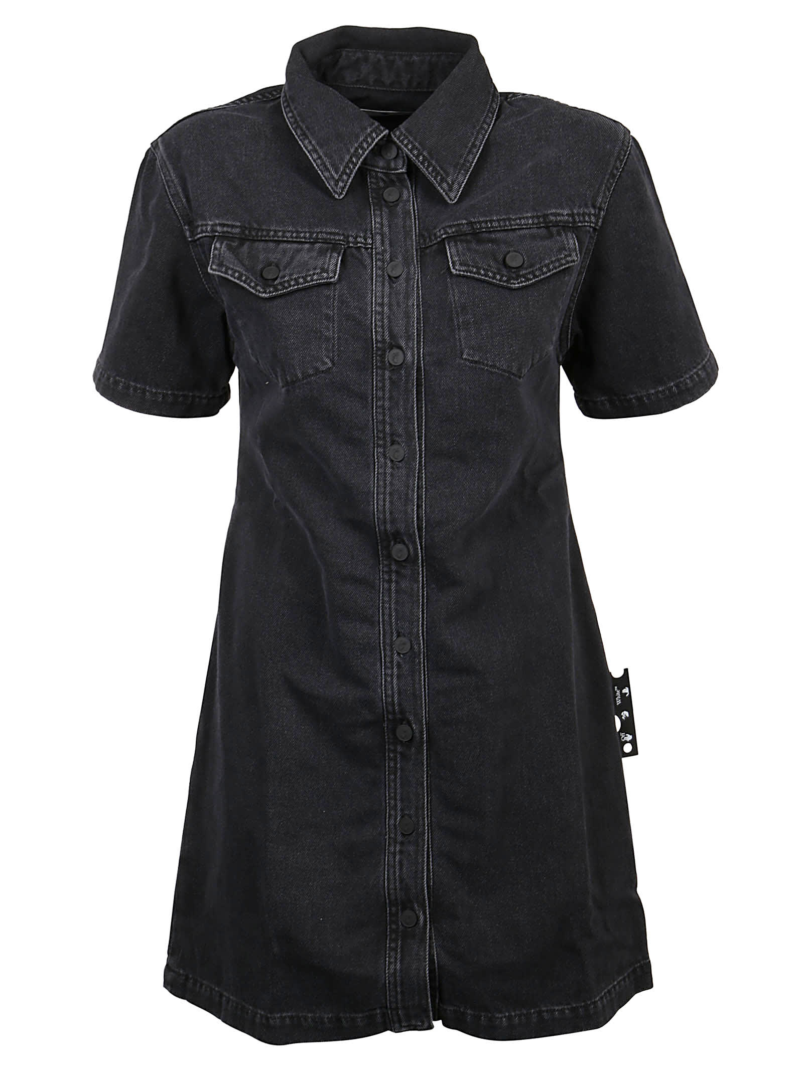 Off-White Dress Polo Dark Grey Denim