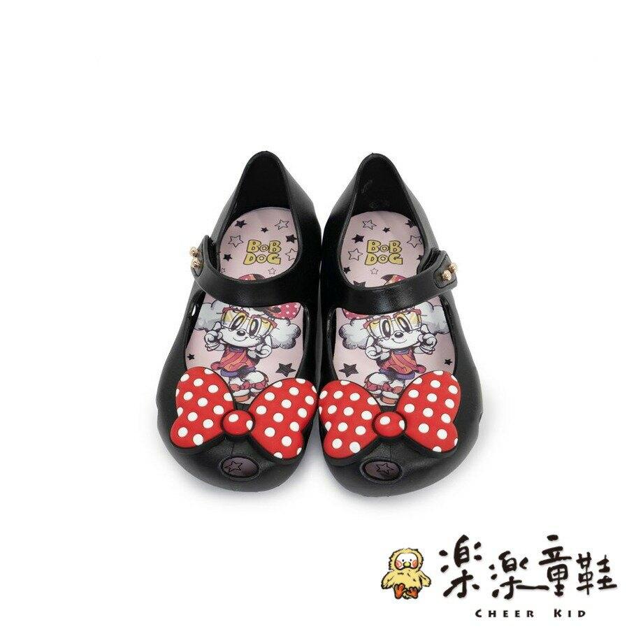 【樂樂童鞋】巴布豆蝴蝶結防水果凍鞋-黑色 - 女童鞋 涼鞋 休閒鞋 果凍鞋 小童鞋 大童鞋 現貨 巴布豆 BOBDOG