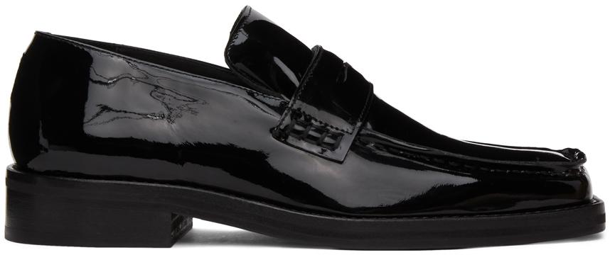 Martine Rose 黑色 Roxy 漆皮乐福鞋