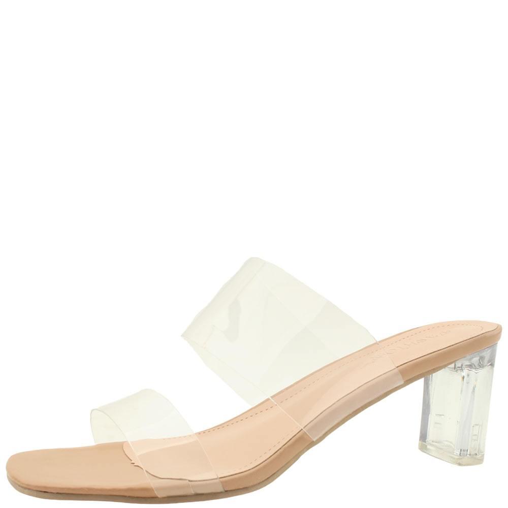 韓國空運 - Glass Heel Transparent Mule High Heel Slippers 7cm 涼鞋