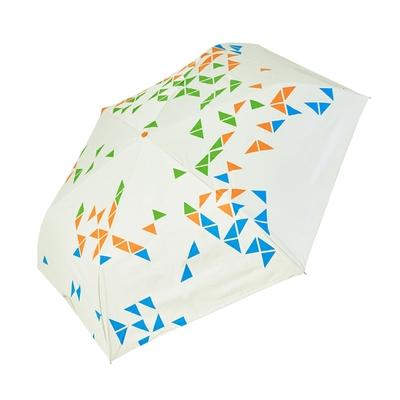 RAINSTORY -8°降溫凍齡手開輕細口紅傘(撞色幾何-綠)
