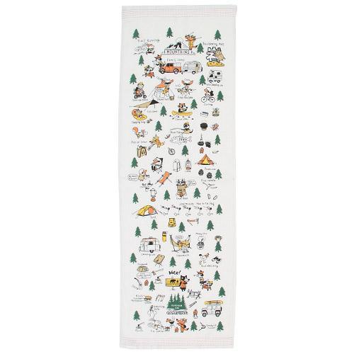 日本【KONTEX】森林動物圖案長紗布毛巾(33x100 cm)