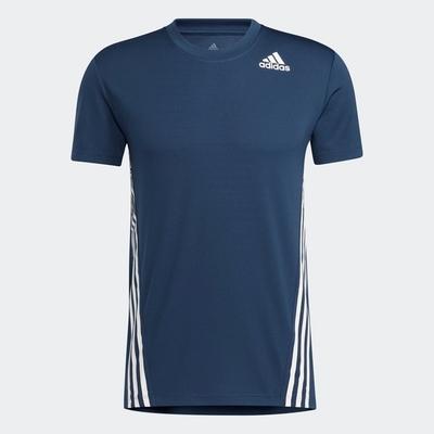 ADIDAS 上衣 短袖上衣 運動 慢跑 男款 藍 GM1066 AERO 3S TEE