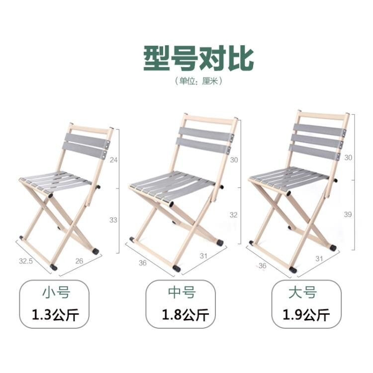 加厚軍工馬扎凳靠背椅子釣魚椅小摺疊椅便攜板凳戶外寫生椅老人椅 摩可美家