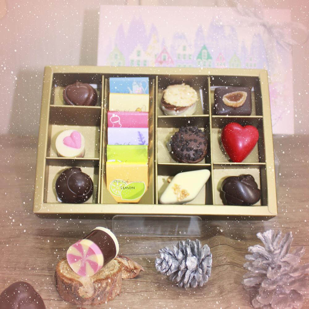 diva life dazzling 紫饌系列巧克力禮盒15入   冬季限定版
