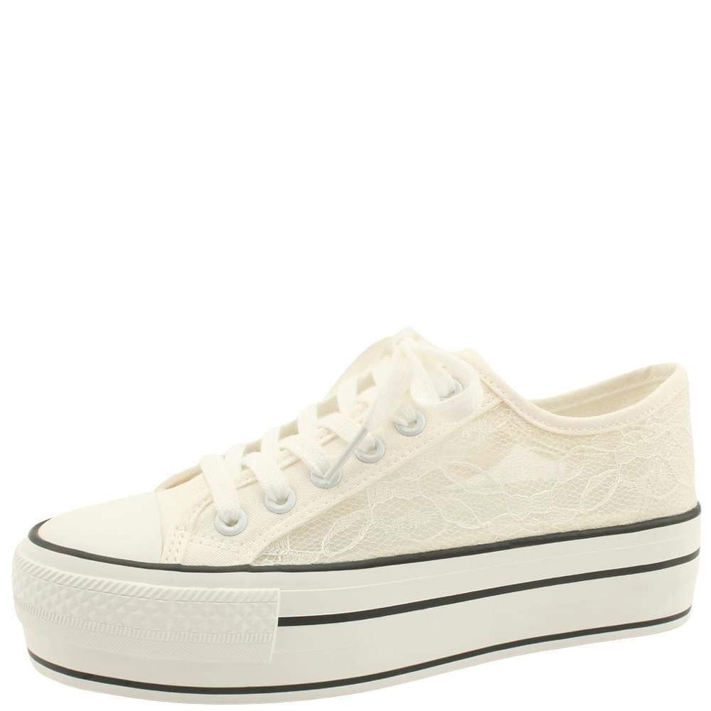 韓國空運 - Lace Mesh Canvas Shoes Sneakers White 球鞋/布鞋