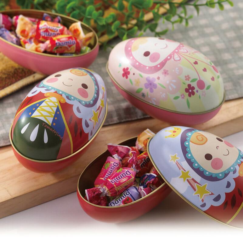 choco day 巧克力糖果禮盒 (蛋型鐵盒)