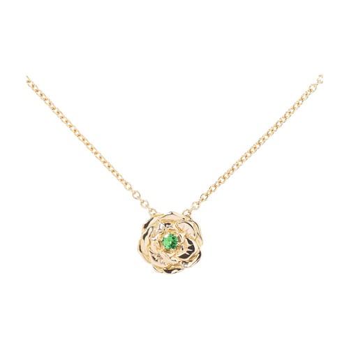 Bouquet tsavorites necklace