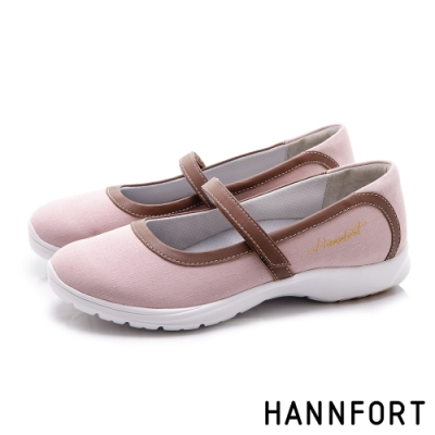 HANNFORT EASY WALK丹寧瑪莉珍氣墊健走鞋 女 粉