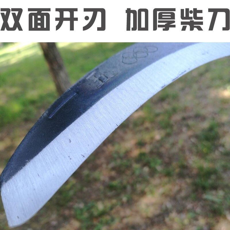 雙砍大鐮刀砍柴砍樹割草手工錳鋼鍛打農用加長把戶外多功能工具小