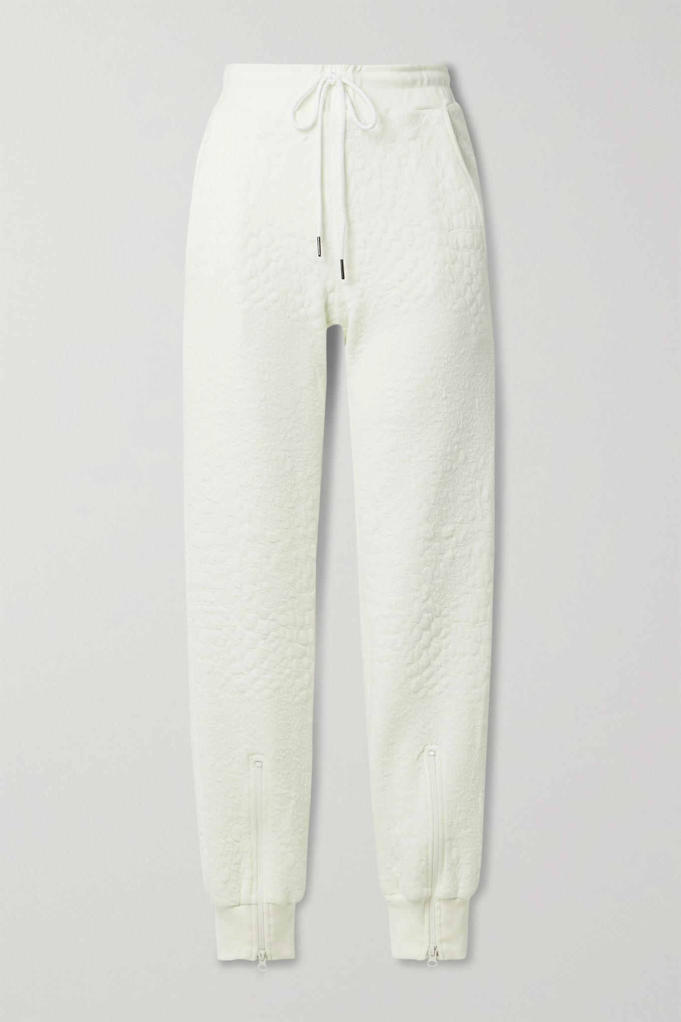 TWENTY MONTRÉAL - Caiman Textured-jersey Track Pants - Ecru - small