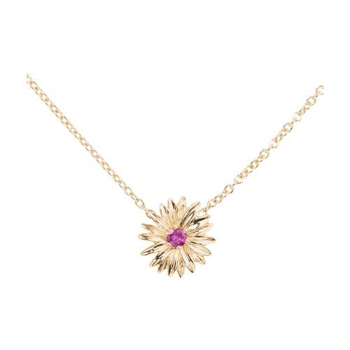 Bouquet rhodolite necklace