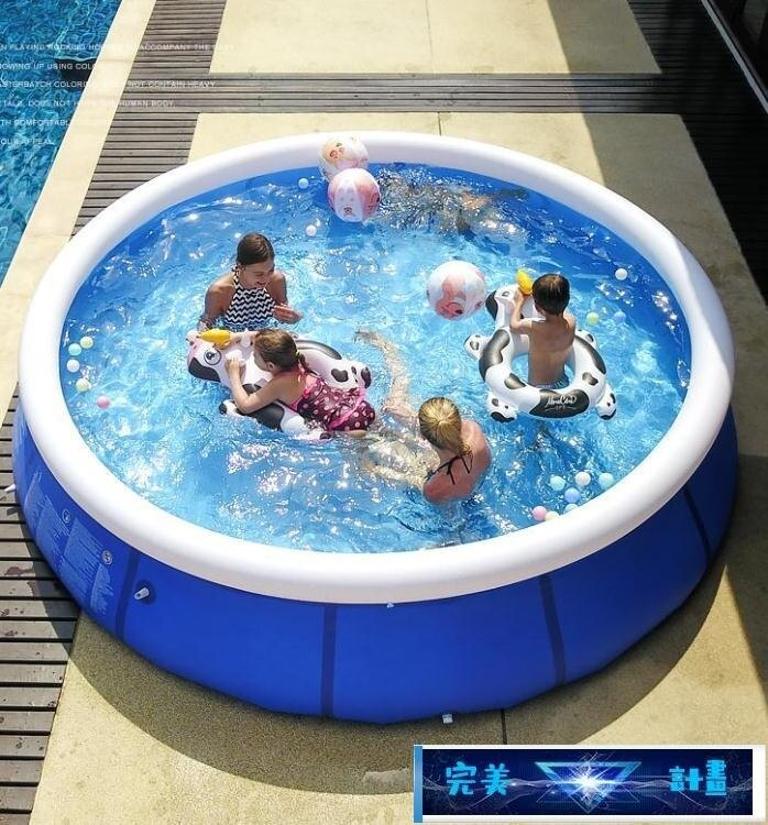 樂天優選 充氣游泳池 超大號家用嬰兒童充氣游泳池寶寶成人小孩洗澡池家庭折疊加厚