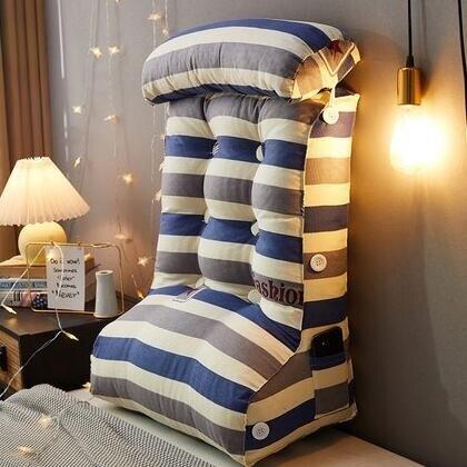 床頭立體靠墊加高護腰加厚三角大靠背床頭靠枕枕頭飄窗榻榻米軟包 摩可美家