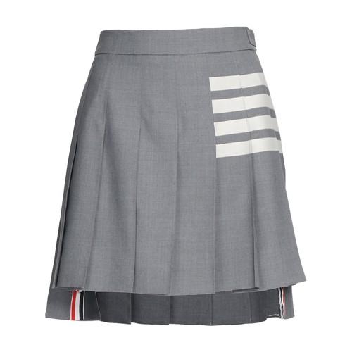 4-Bar pleated mini skirt