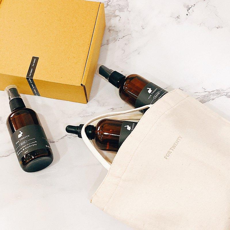 【禮物】【限量】純淨保養組 (職人手作提袋+禮盒)