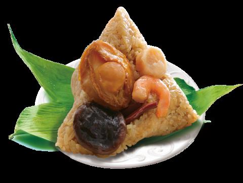 鮑魚干貝海鮮粽(2顆/盒)(冷凍)