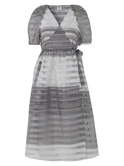 Adalaine Dotted Tie-Waist Dress