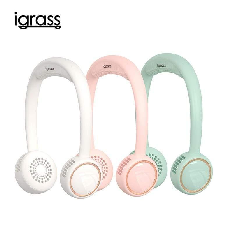 無葉掛脖風扇 白/粉/綠 3包可選  (IGS025) 粉色