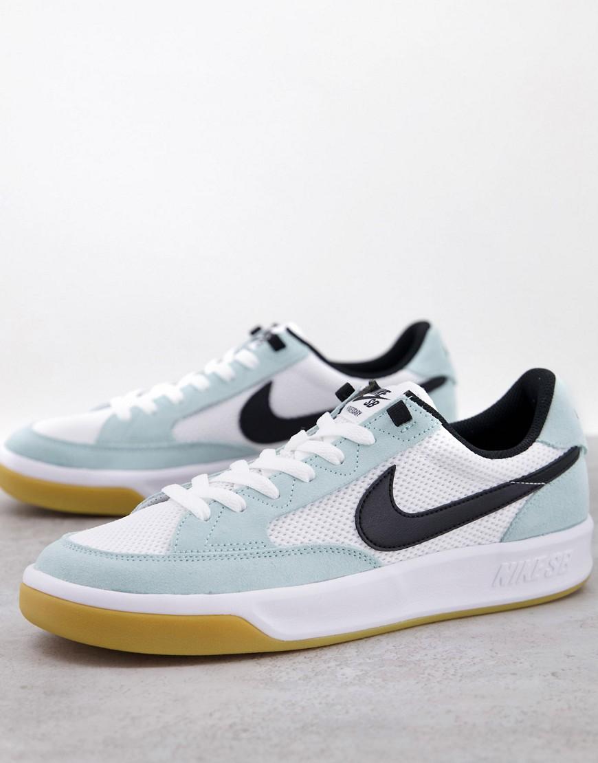 Nike SB Adversary trainers in light dew/gum-Blue
