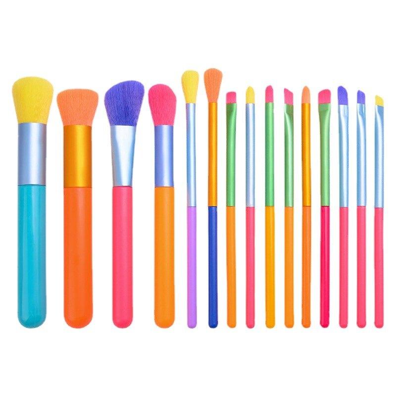 五彩化妝刷套裝 眼影刷全套化妝刷美妝工具可定制LOGO