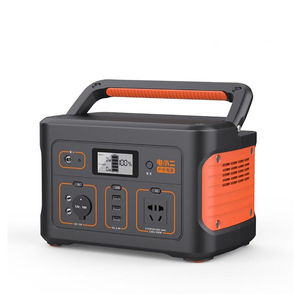 電小二|戶外電源600S高容量174000mAh戶外露營夜市擺攤戶外供電器(不含汽車補電線)