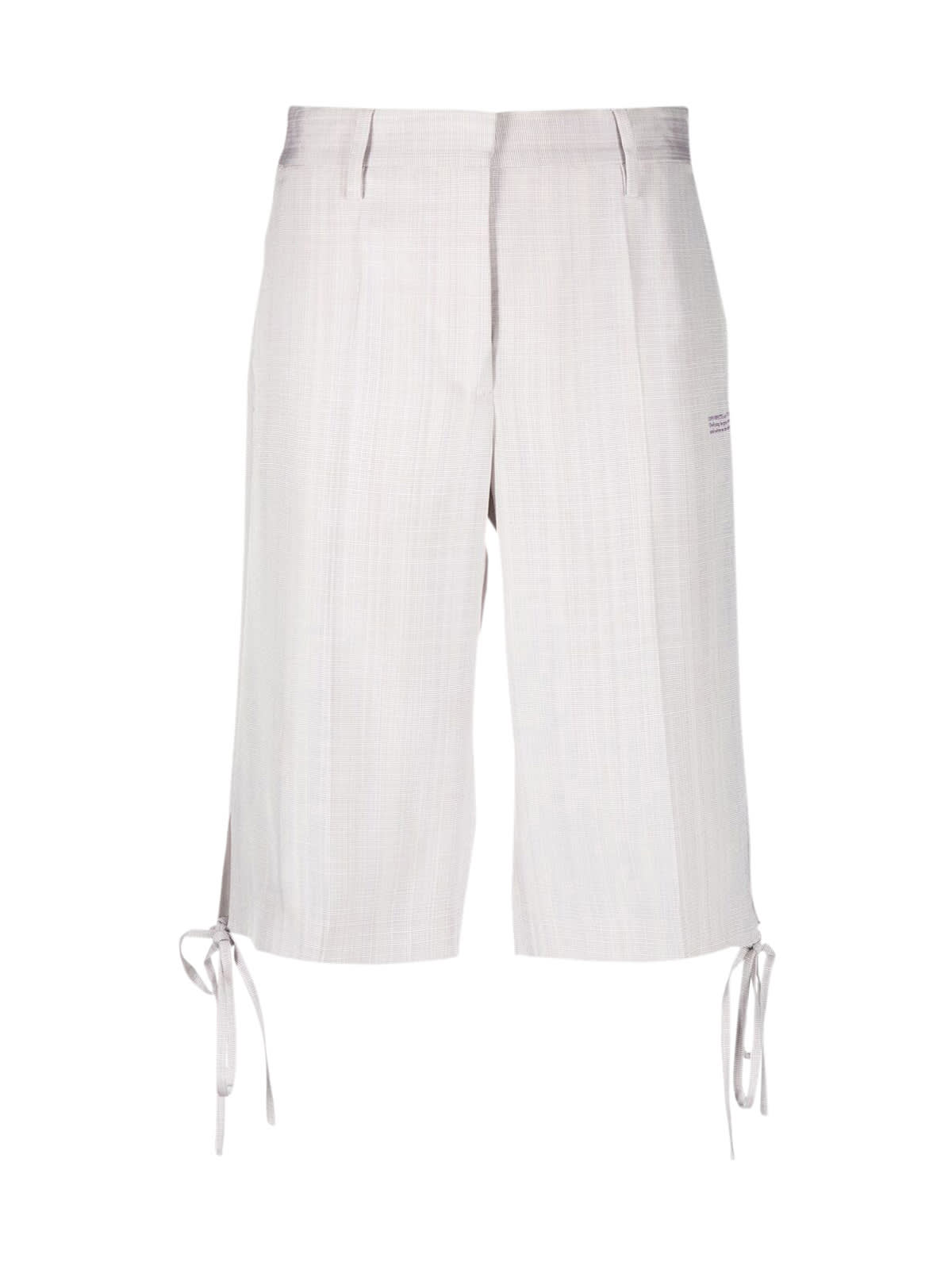 Off-White Nat Visc Strings Form Shorts