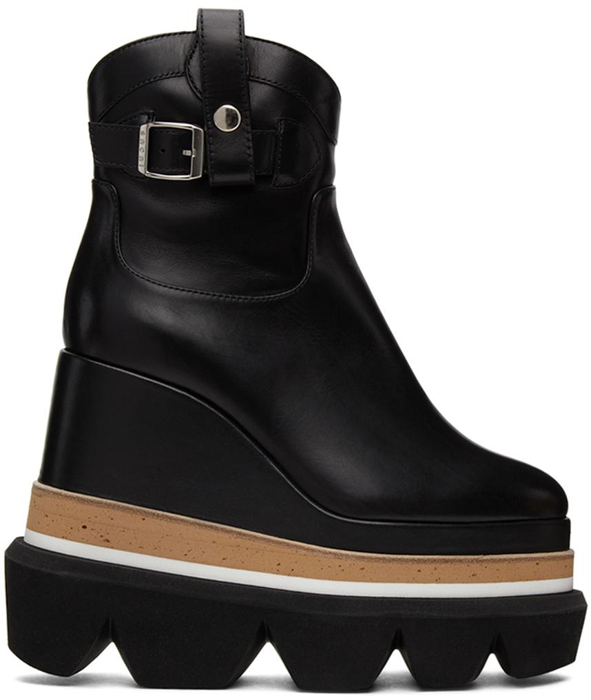 Sacai 黑色 Short Wedge Western 踝靴