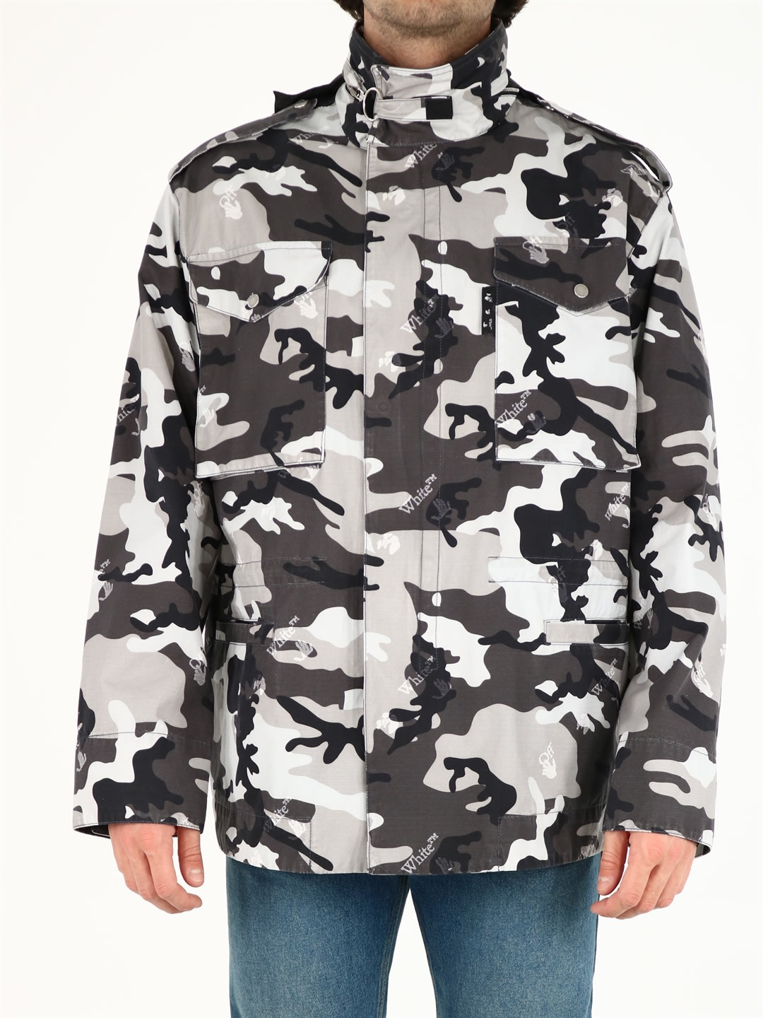 Off-White Gray Camouflage Jacket