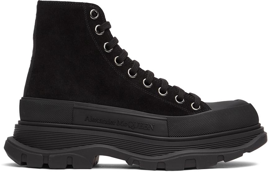 Alexander McQueen 黑色 Tread Slick 高帮运动鞋