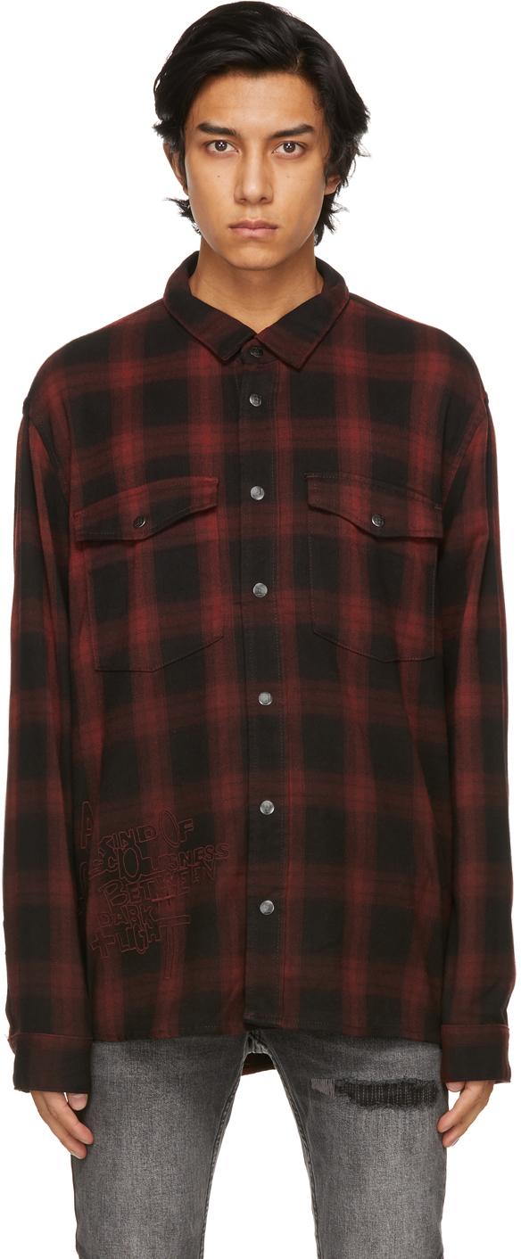 Ksubi 红色 Consciousness 格纹衬衫