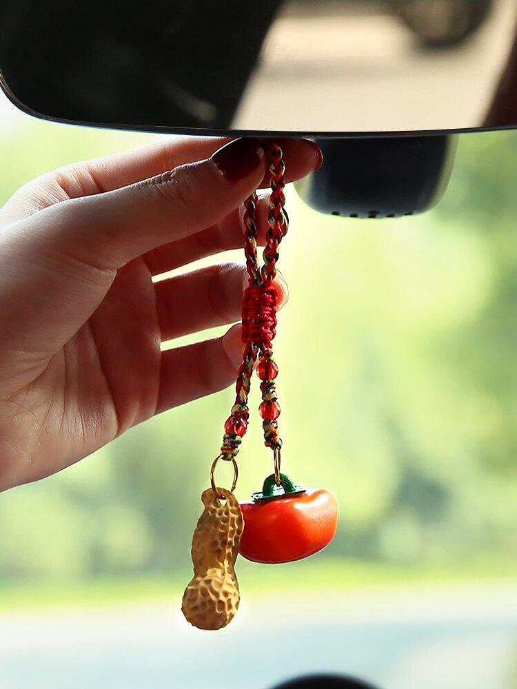 文創飾品好柿會花生結婚禮物車內飾品家居創意送閨蜜鑰匙扣掛件JMT3 愛尚優品