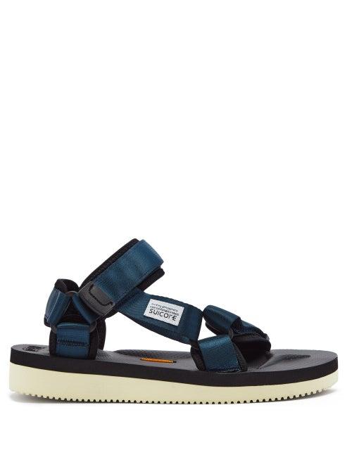 Suicoke - Depa-v2 Velcro-strap Sandals - Womens - Navy