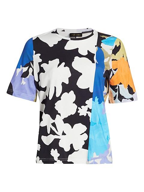 Leonie Multicolor Patchwork Floral T-Shirt