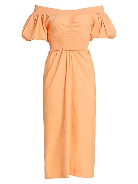 Adena Off-The-Shoulder Midi Dress