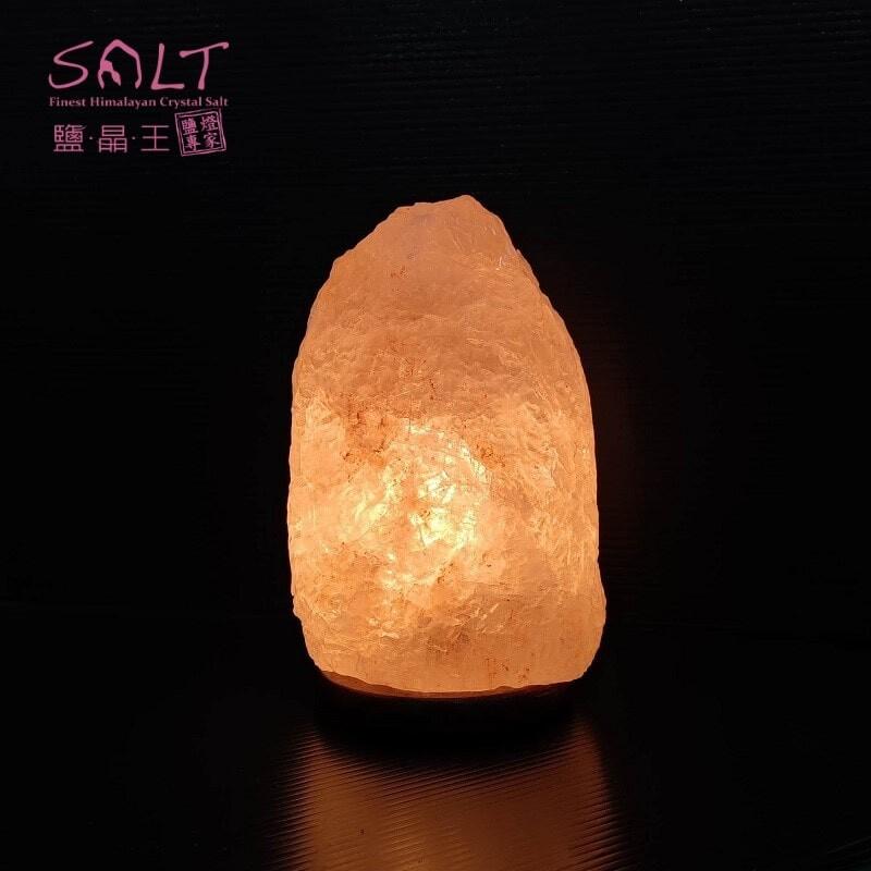 鹽燈專家鹽晶王正宗巴基斯坦玫瑰鹽燈3~4kg實木底座一入組開運必備